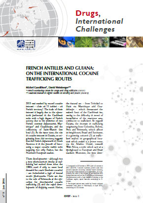 French Antilles and Guiana : on the international cocaïne trafficking routes