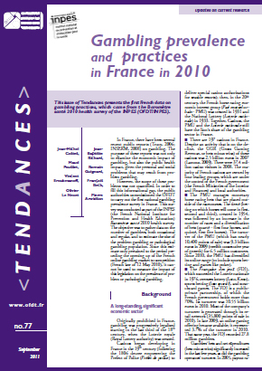 Gambling prevalence and practices in France in 2010