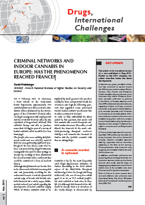 Criminal networks and indoor cannabis in Europe: has the phenomenon reached France?