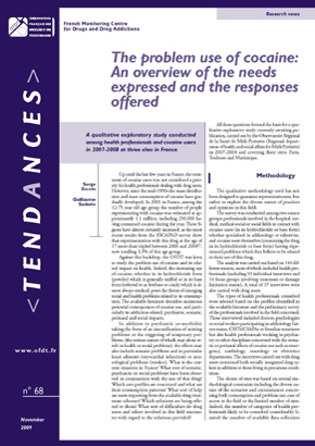 The problem use of cocaine:An overview of the needs expressed and the responses offered