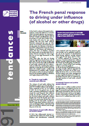The French penal response to driving under influence (of alcohol or other drugs)