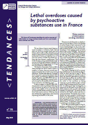 Lethal overdoses caused by psychoactive substances use in France